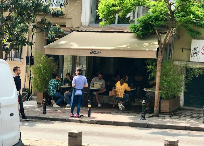 Journey café offers healthy menu options.