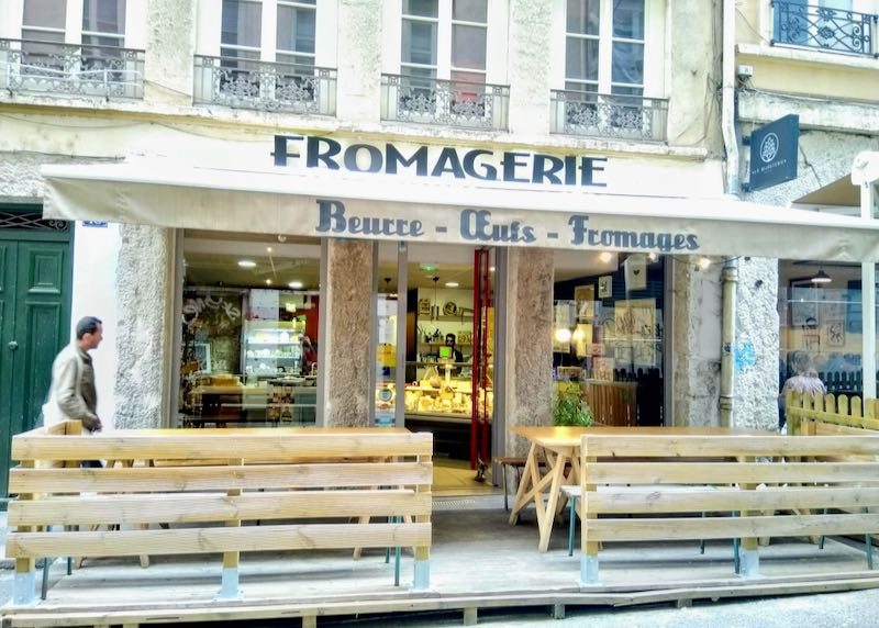 Fromagerie B.O.F. sells excellent cheese.