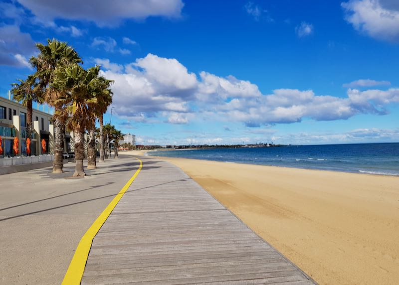 The St Kilda board is great for walking and cycling.