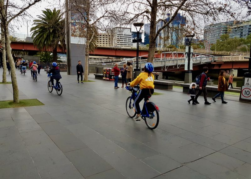 Cycling is very popular in the area.