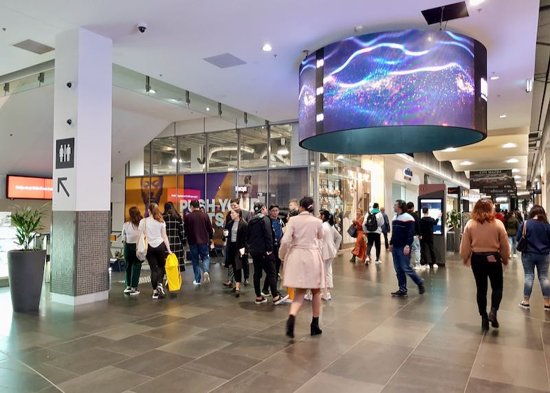 DFO mall has stores of several international brands.