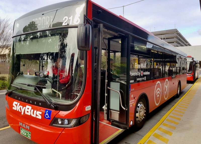 The express SkyBus is the best way to and from the airport.