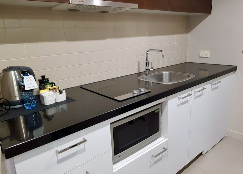 Apartments comes with large kitchens.