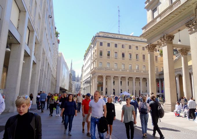 Corso Vittorio Emanuele II is great for shopping.