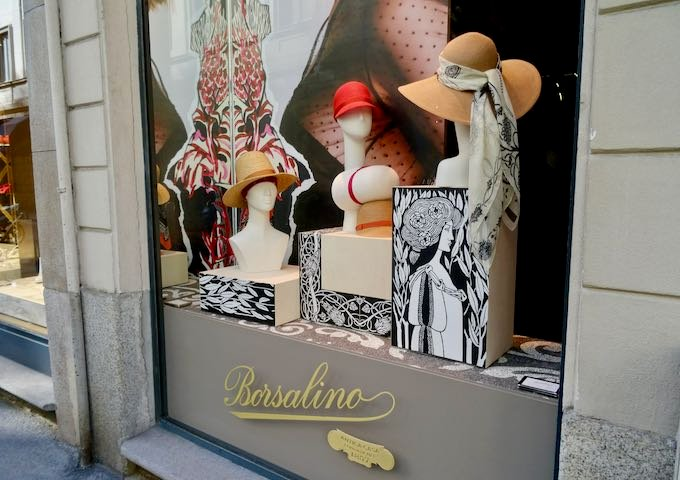 Borsalino is a great local hat maker.