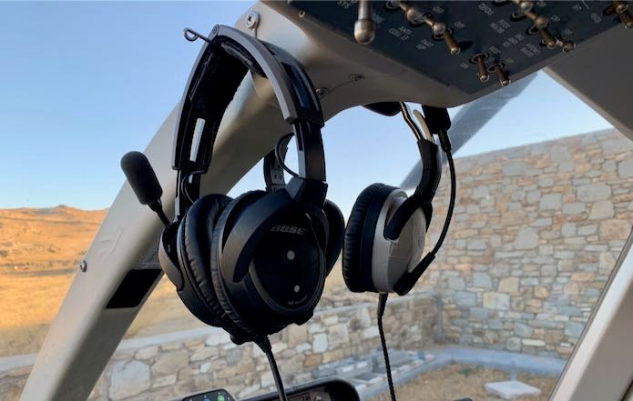 Santorini Mykonos Helicopter Ride
