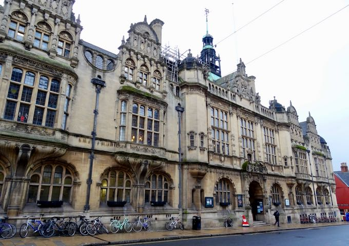 The Museum of Oxford is in the old town hall building.
