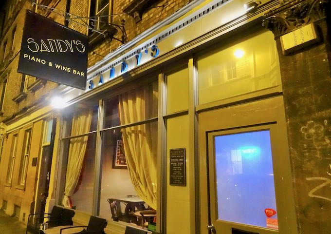 Sandy's Wine Bar is a great late-night hangout.