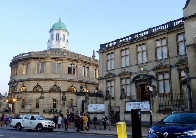 Museum of the History of Science and Sheldonian Theatre can be found on Broad Street.