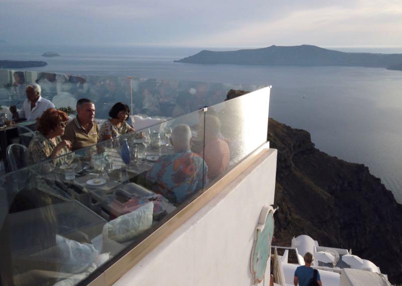 santorini athenian house restaurant view 2