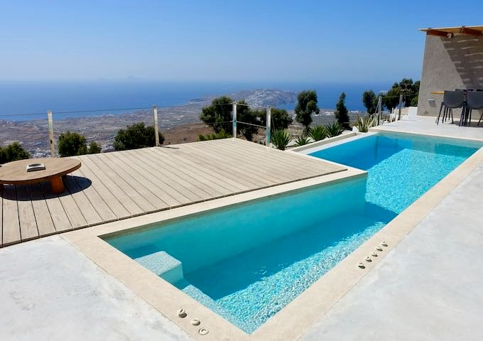 View from the Summit Villa at Santorini Heights in Pyrgos