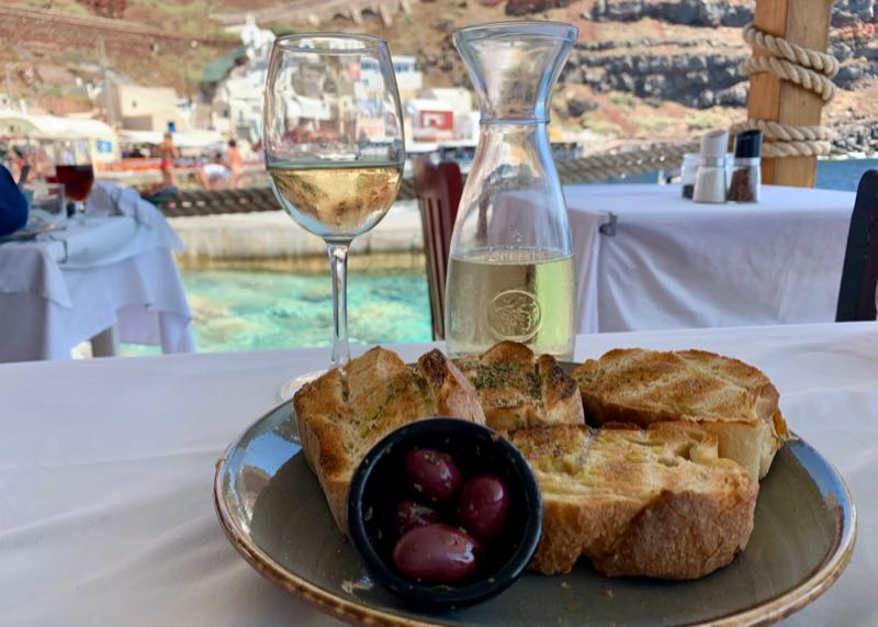 santorini restaurant amoudi fish tavern olives wine