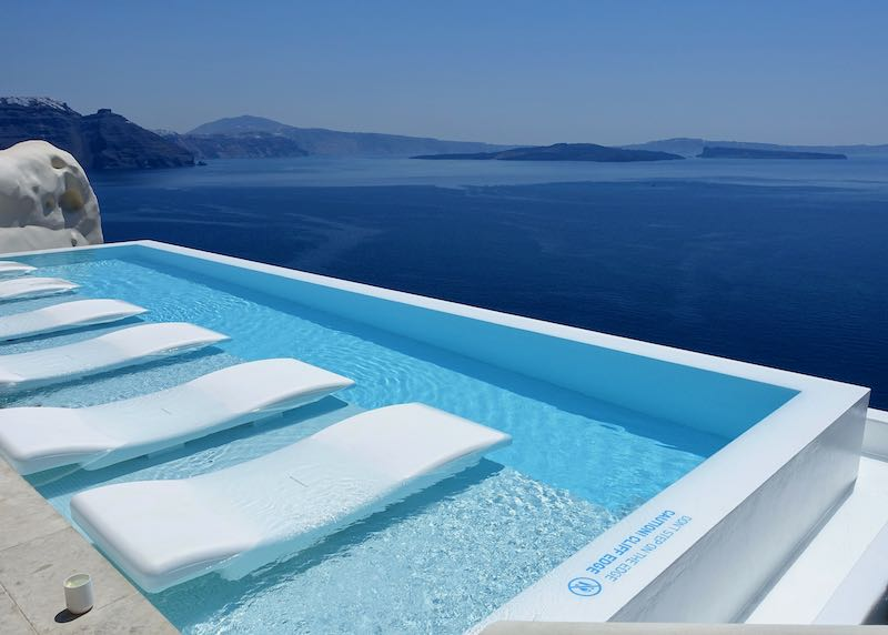 infinite pool at Canaves Oia Suites