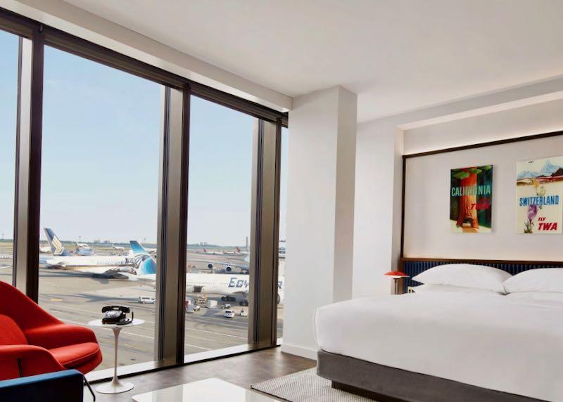 Luxury hotel at JFK Airport.