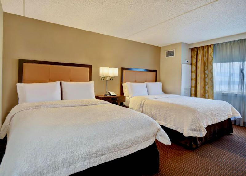 Inexpensive hotel with shuttle near JFK Airport in Brooklyn.