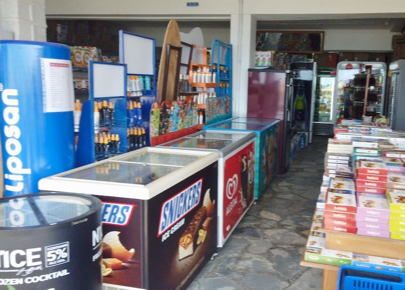 ice cream and cold drinks for sale