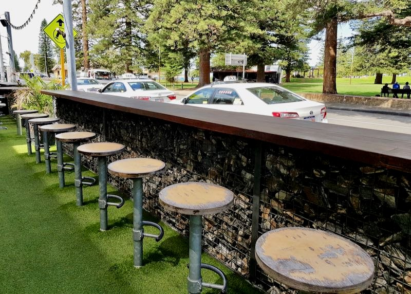 Ball & Chain also offers outdoor seating.