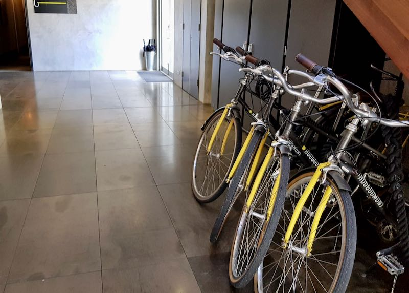 The hotel has free bike rentals for guests.
