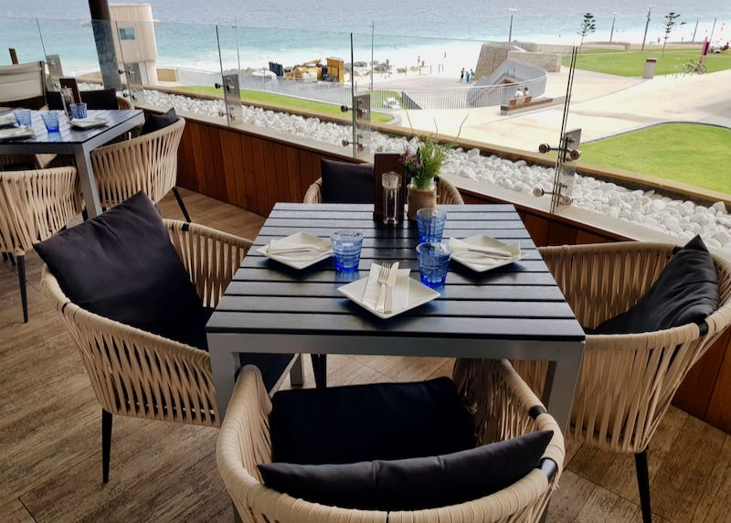 La Capannina bistro offers great sea views.