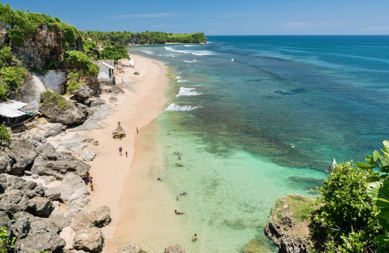 Beach hotels in Bali.