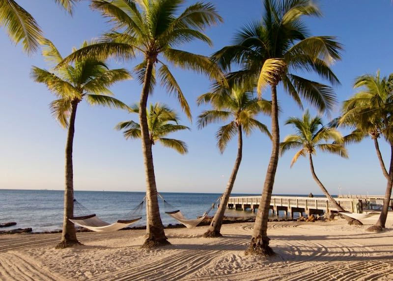 Luxury beach hotel in Key West.