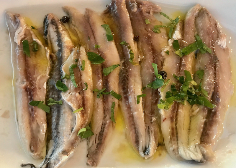 anchovies appetizer