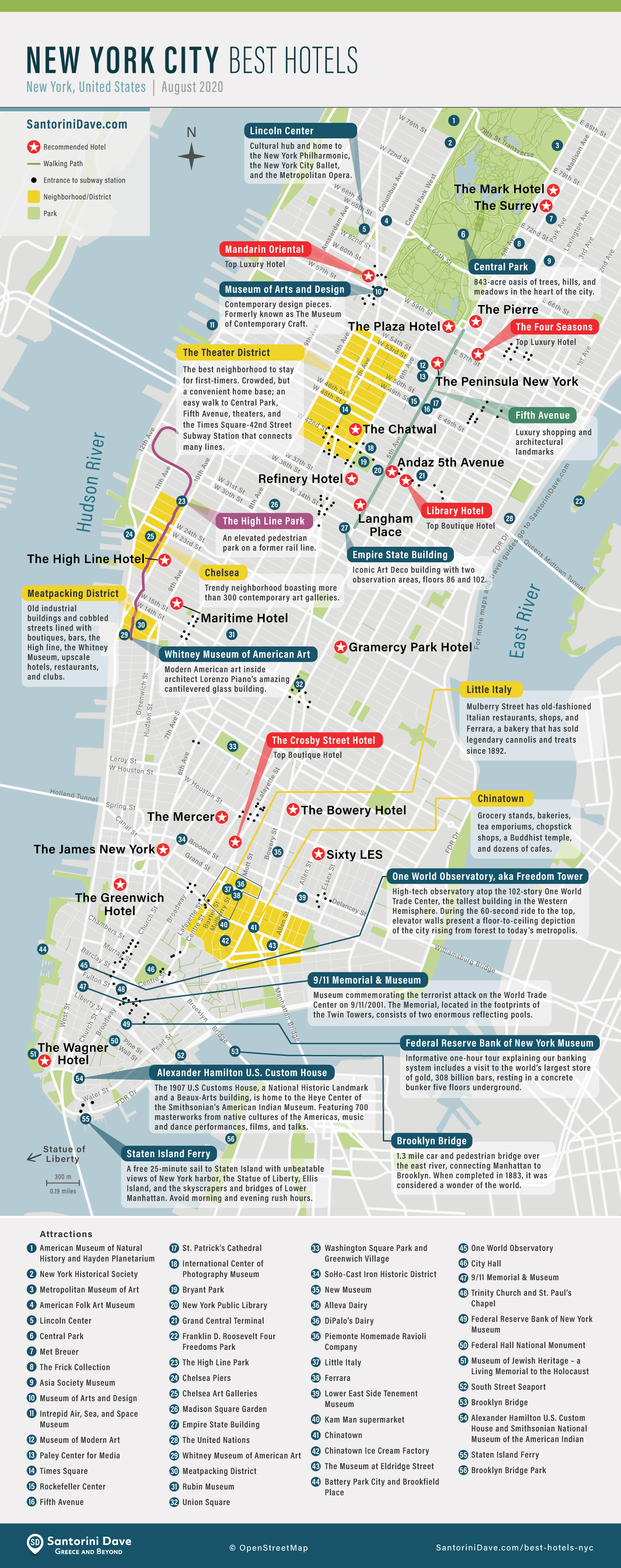 Map of New York City Hotels