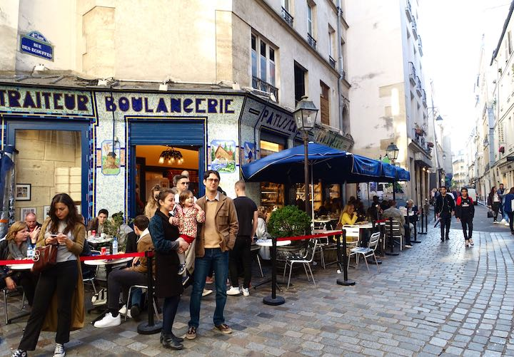 Street scene in the Jewish Quarter of the Marais