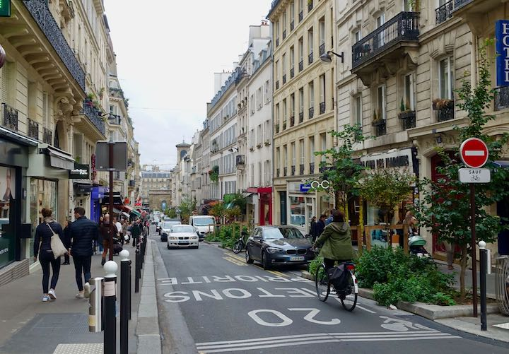 Street scene in South Pigalle, Paris