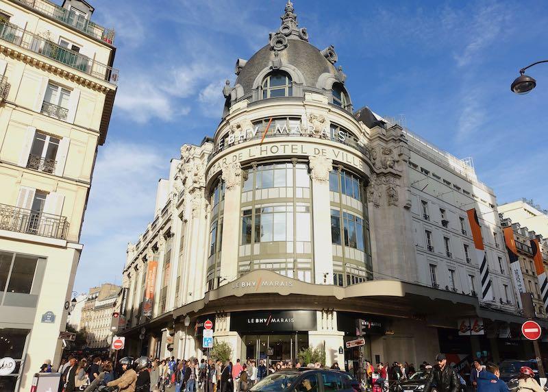 BHV shop in Paris