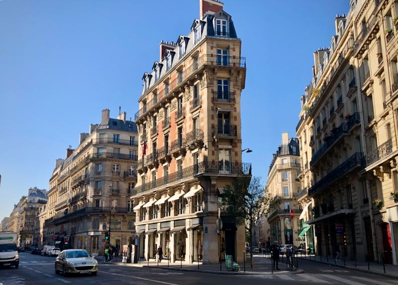 Buildings in the Marais district in Paris.