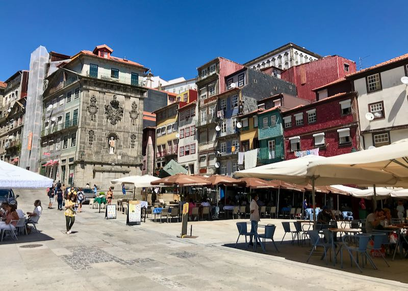Praça Ribeira is one of Porto's oldest squares.