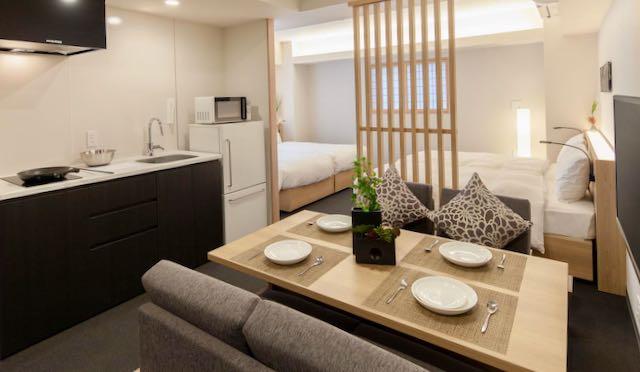 Tokyo hotel with kitchen.
