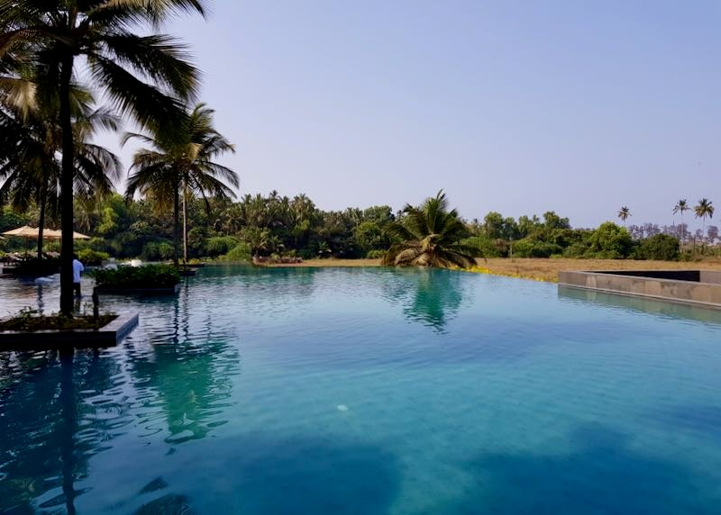 Luxury hotel with pool in Goa.