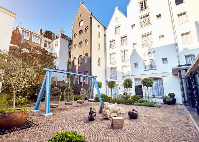 The courtyard is a great area to relax in.