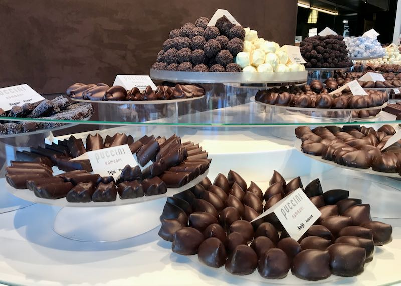 Puccini Bomboni specializes in the city's best handmade chocolates.