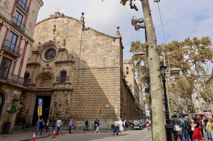La Rambla street in El Raval, Barcelona