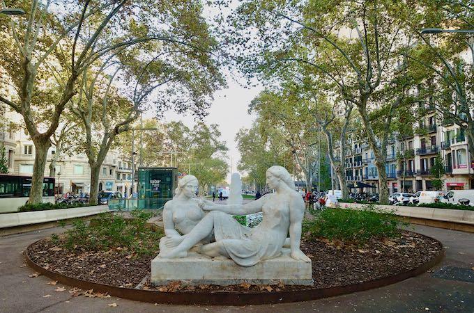 The Gracia neighborhood in Barcelona