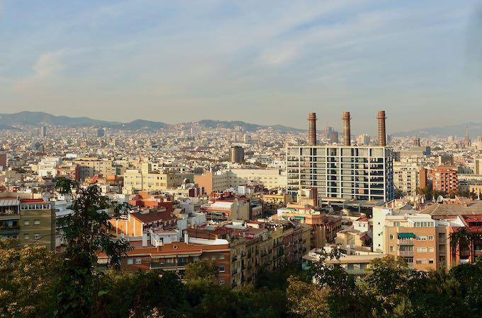 Overlooking Poble Sec in Barcelona