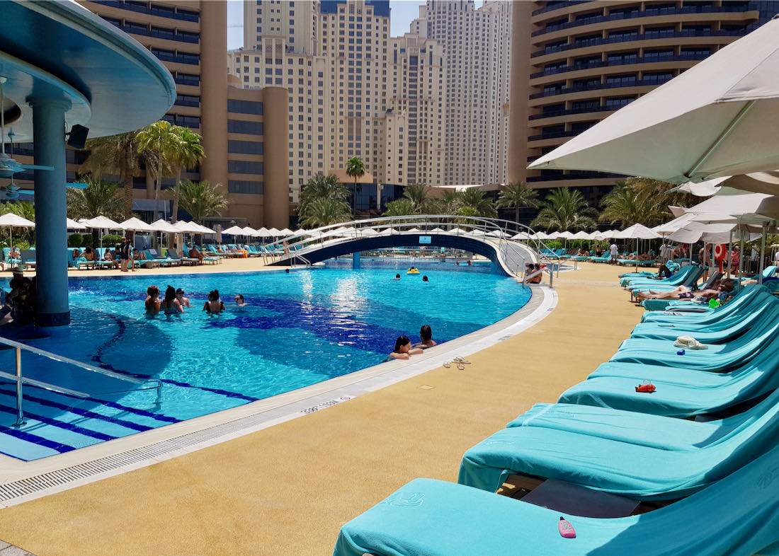 Beach resort in central Dubai.