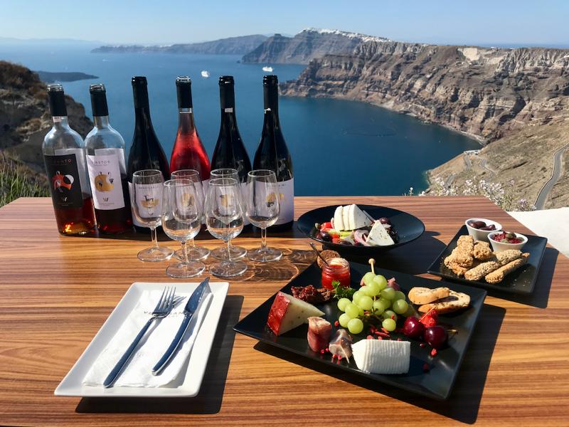 santorini venetsanos winery tasting