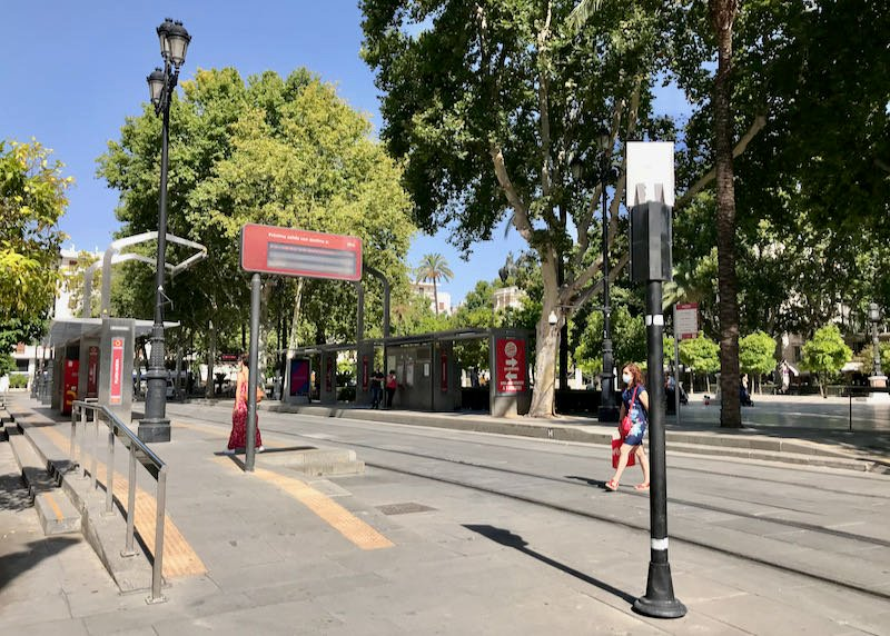 Plaza Nueva is the closest tram stop.