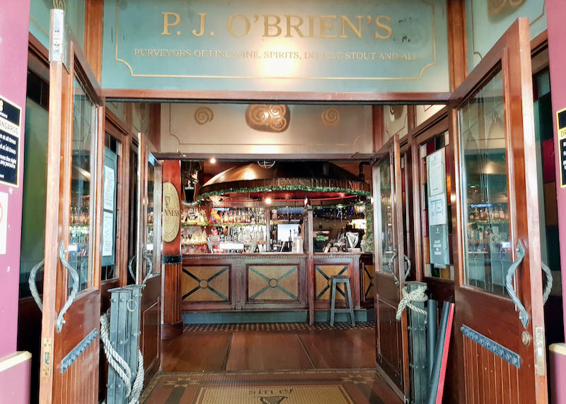 P.J. O'Brien's is located on Shields Street.