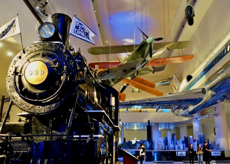 A train inside the Museum of Science and Industry in Chicago's Hyde Park neighborhood.