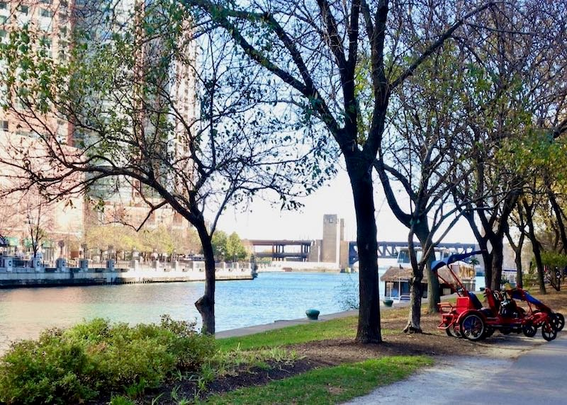 The Chicago Riverwalk in Lake Shore East