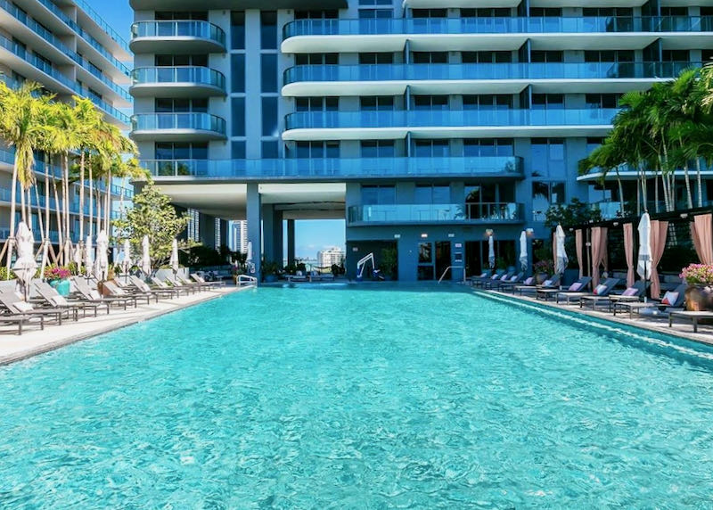 Boutique hotel in Miami with pool