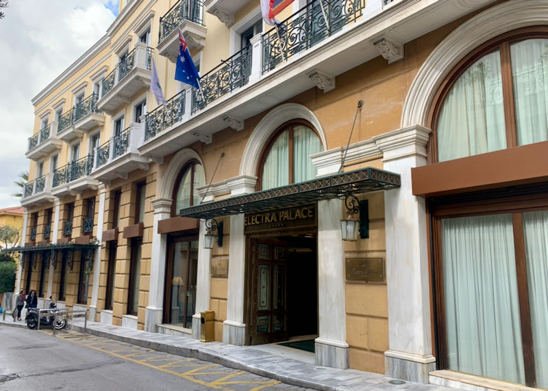 Exterior of Electra Palace Hotel in Athens