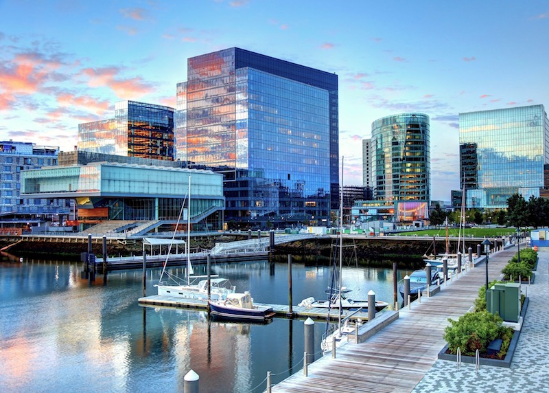 The shiny new Seaport District of Boston