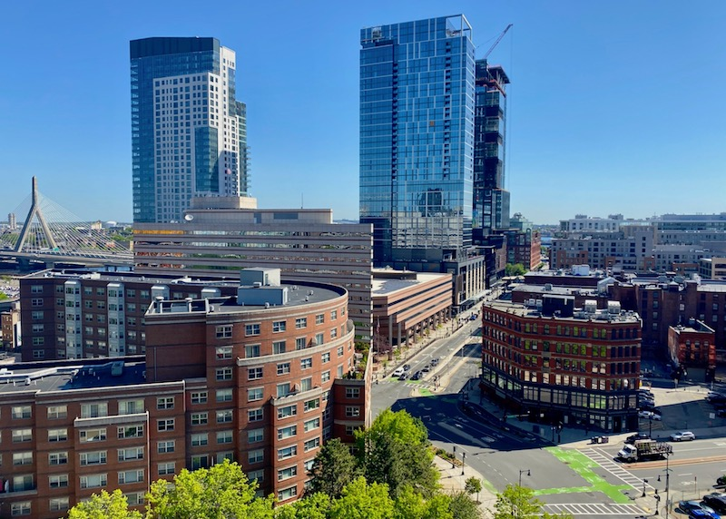 View of the West End in Boston