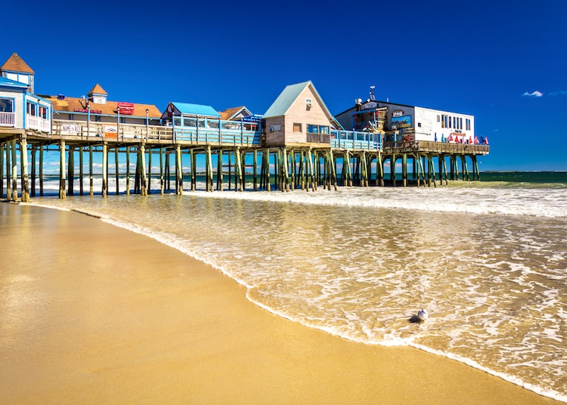 The charming pier on Old Orchard Beach, Maine.